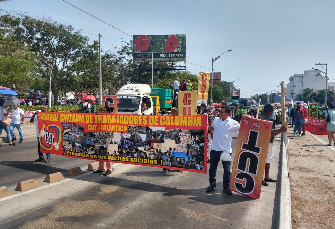 Marchas Día del Trabajo en Barranquilla