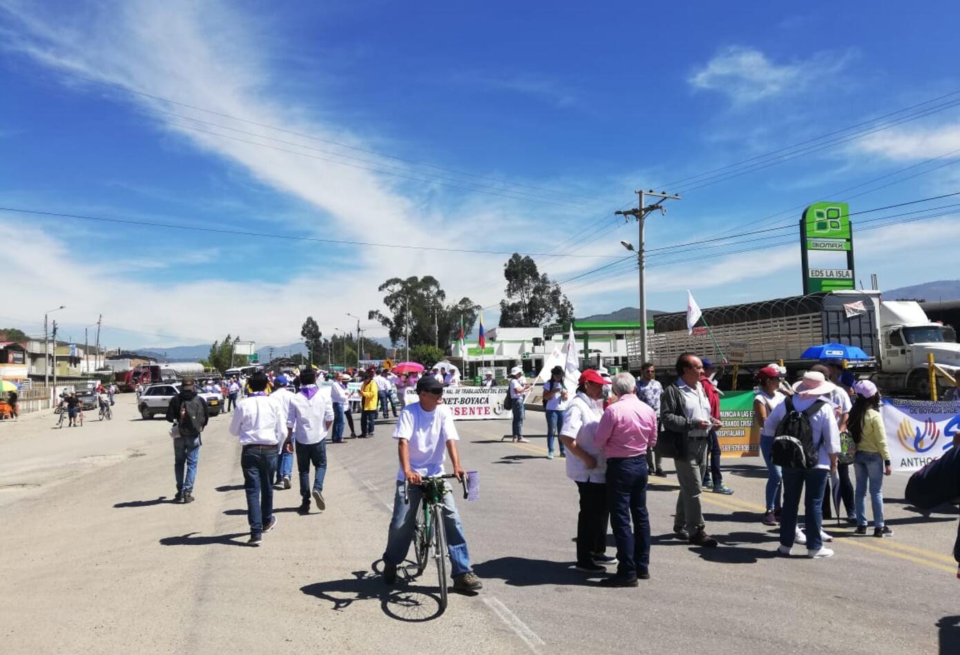 Marchas primero de mayo en Sogamoso