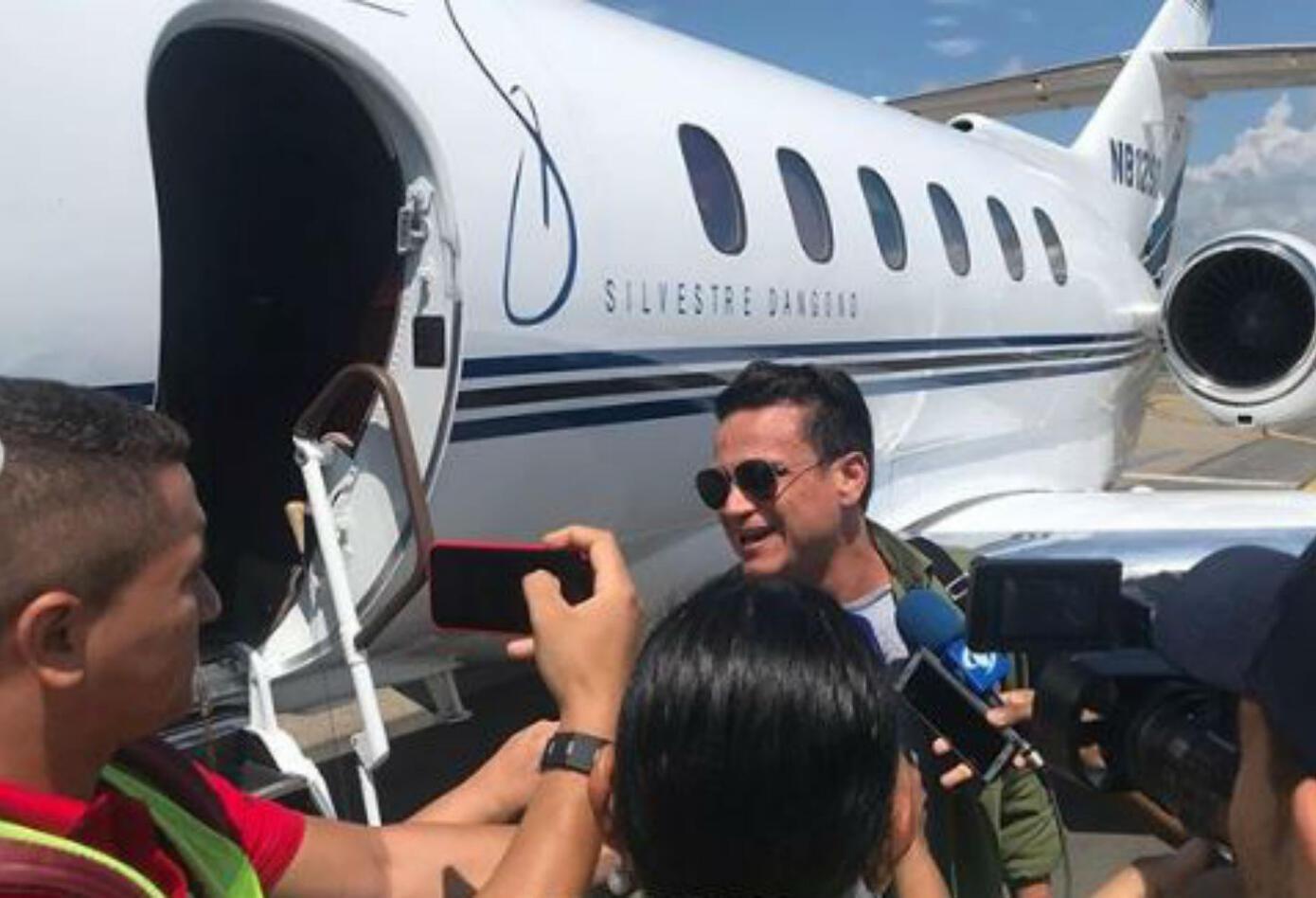 Avión de Silvestre Dangond