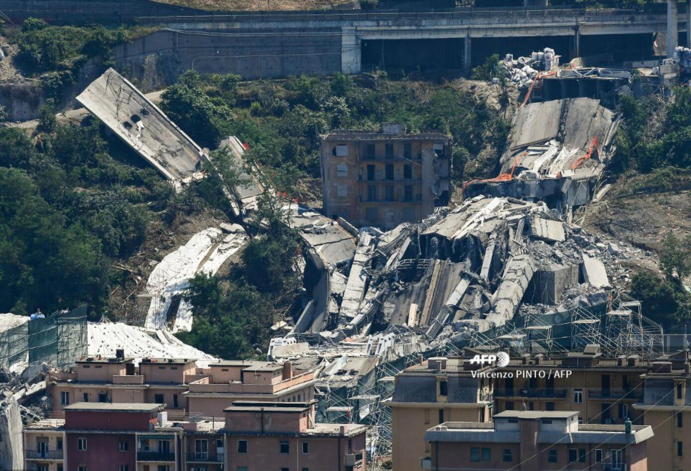 Puente desplomado en Italia