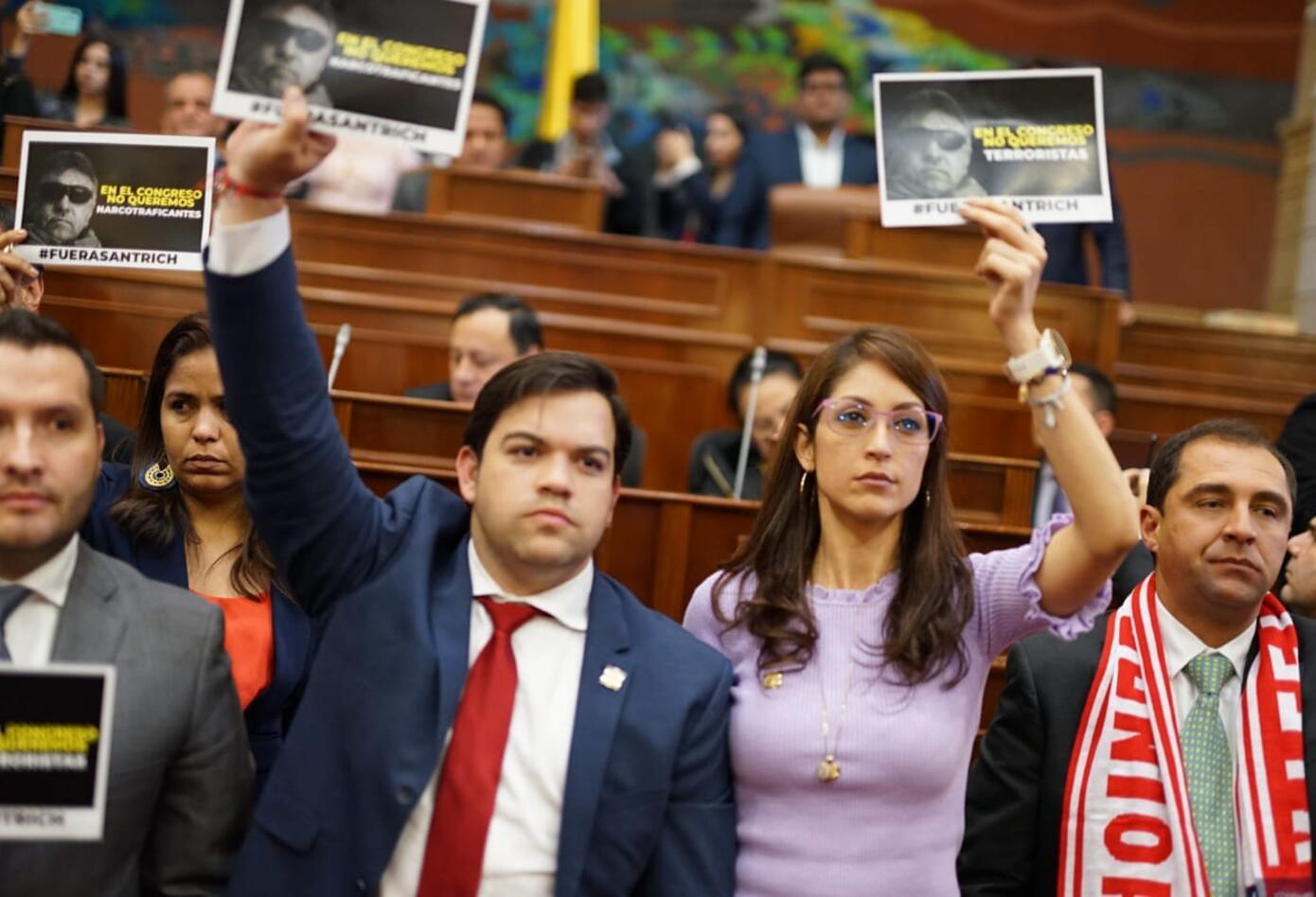 Con protesta recibieron a Jesús Santrich en la plenaria de Cámara.