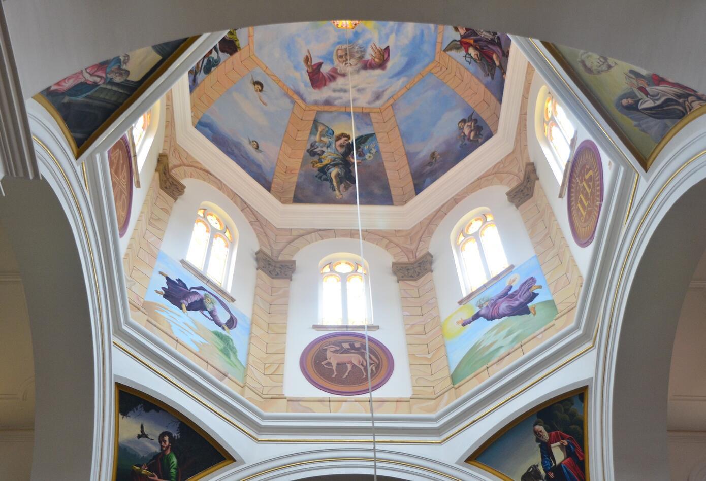 Pintura en el interior de Iglesia