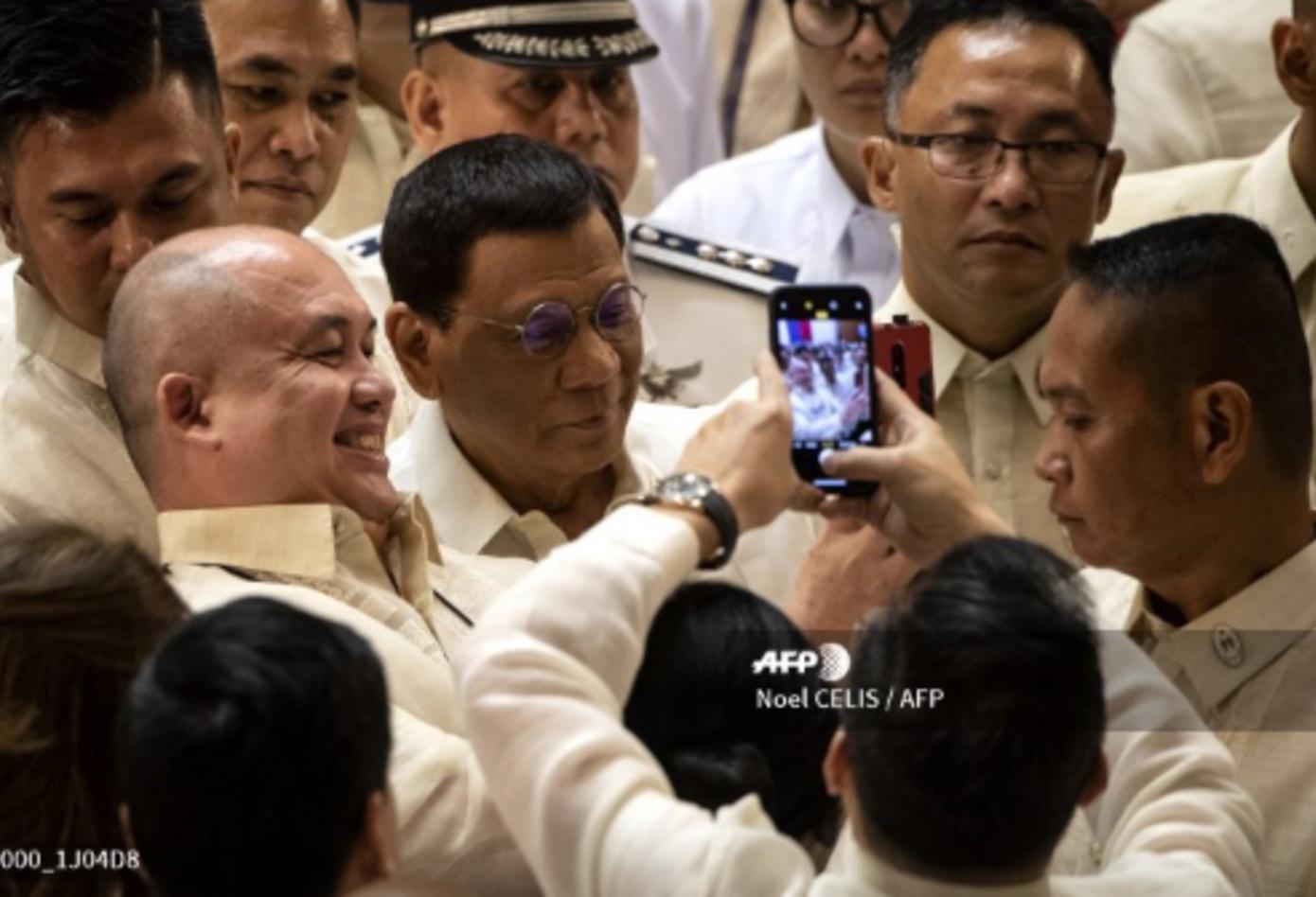 Rodrigo Duterte en discurso del Estado de la Nación