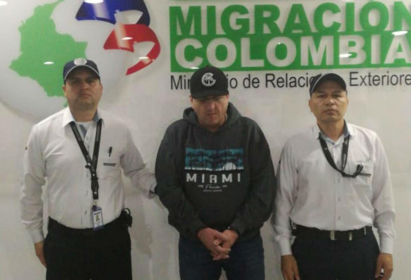 Alias Macaco a su llegada a Colombia