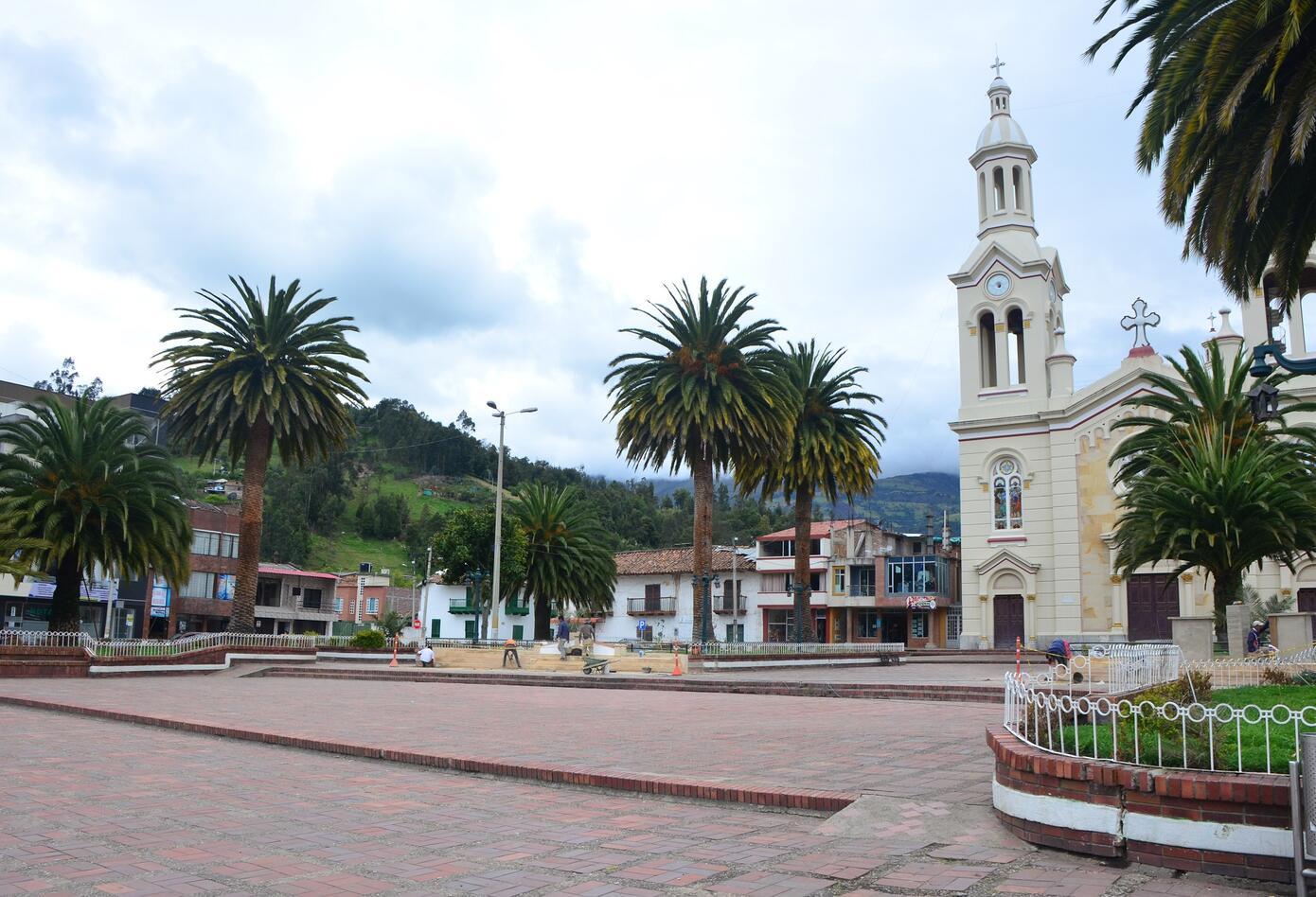 Plaza principal Belén Boyacá