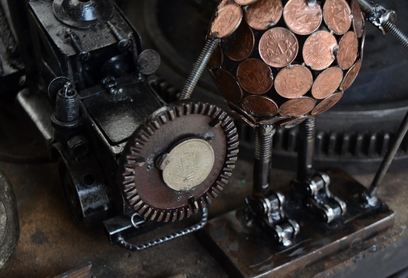 Forja de metales artesanal
