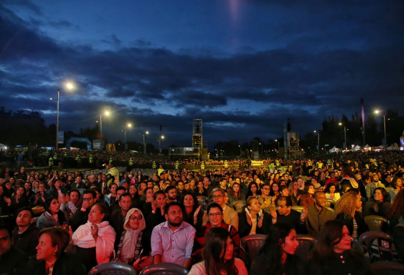 Concierto del Bicentenario en Bogotá.