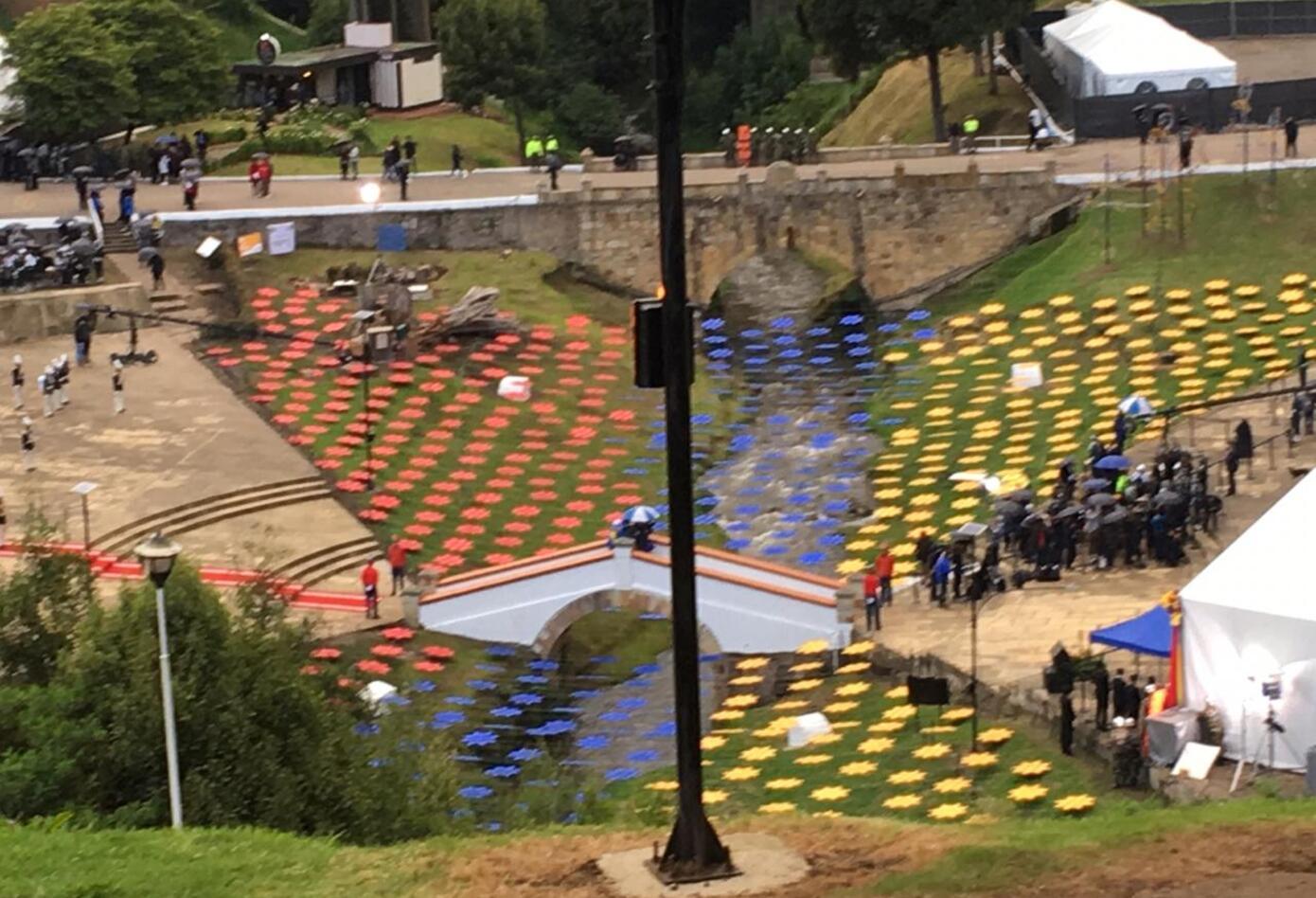 Celebración de Bicentenario, en el Puente de Bocayá.