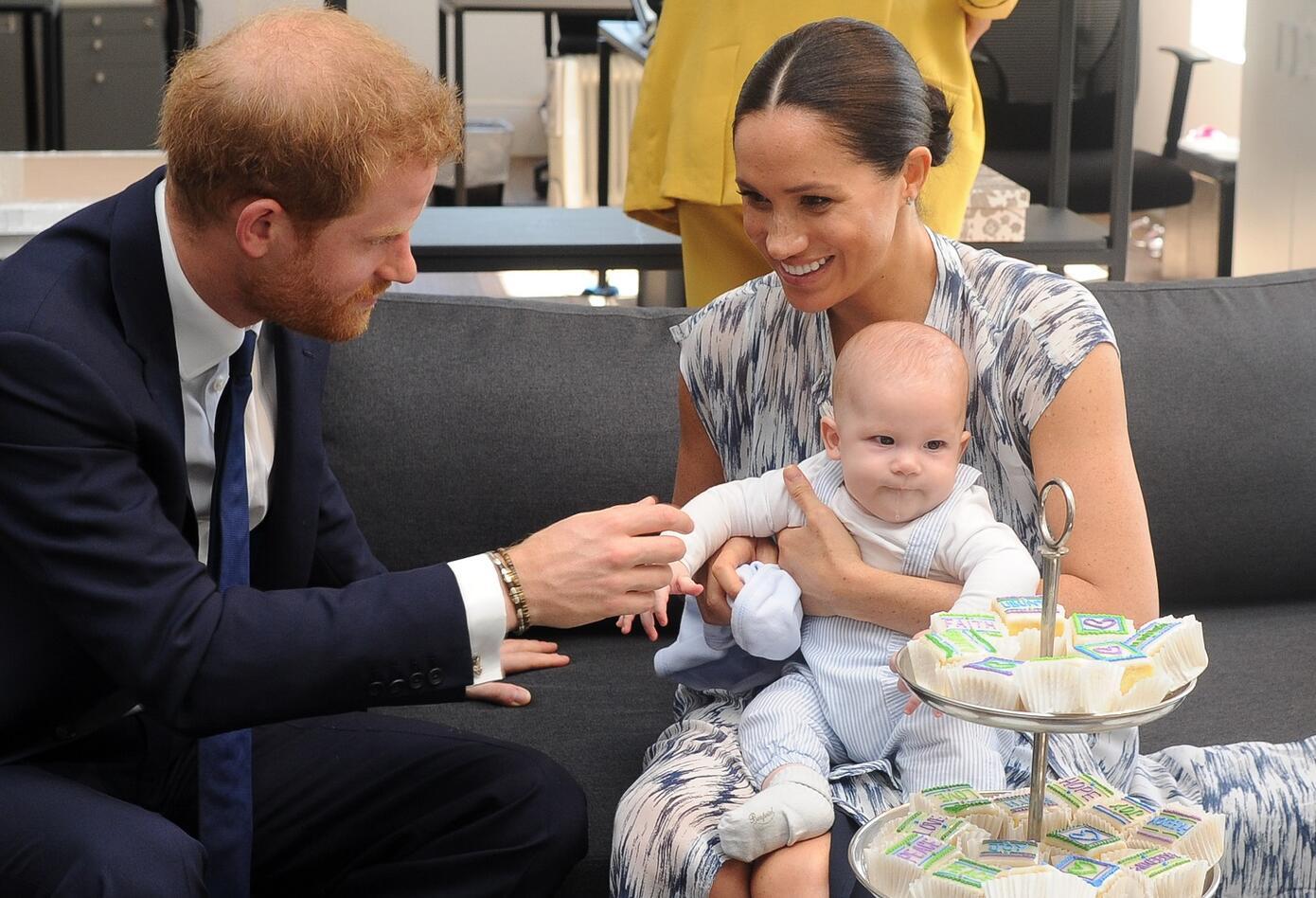 Harry, Meghan Markle y su hijo Archie