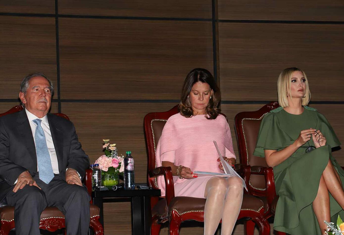 Ivanka Trump en la Escuela de Cadetes General Santander