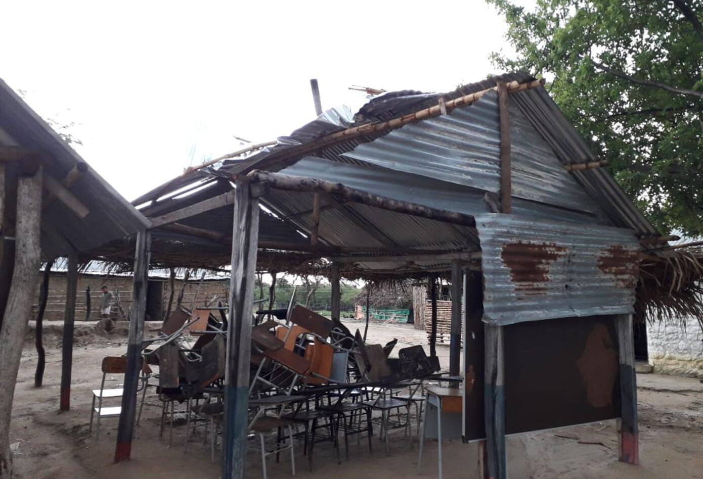 Otro afectado fueron la comunidad indígena de la vereda los Olivos, perdieron la escuela
