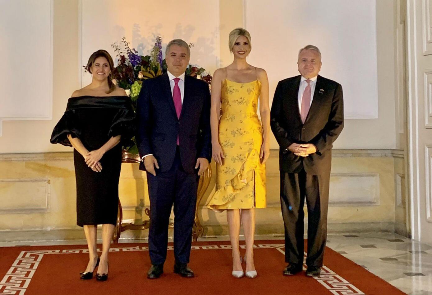 Ivanka Trump en la Casa de Nariño