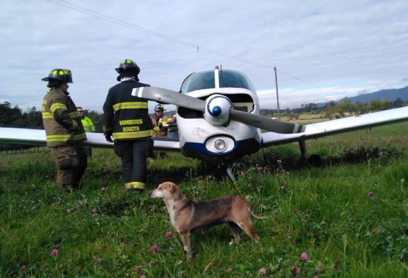 Avioneta cae en Bogotá