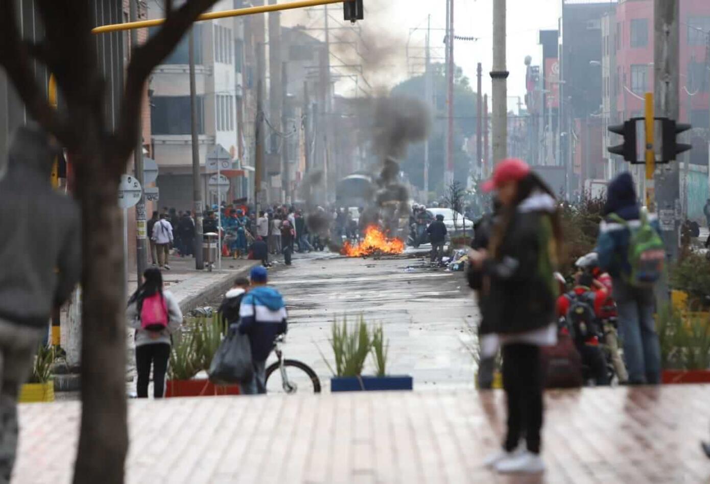 Disturbios en San Andresito de San José
