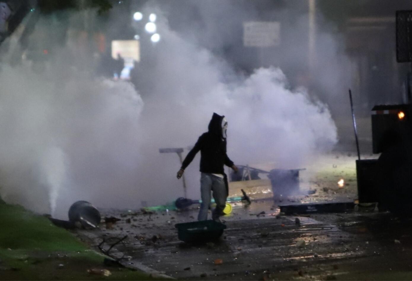 Protestas cerca de la Universidad Pedagógica