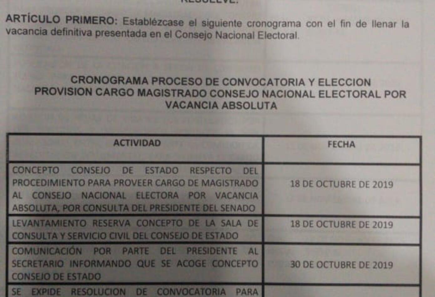 Resolución elección magistrado del CNE 01