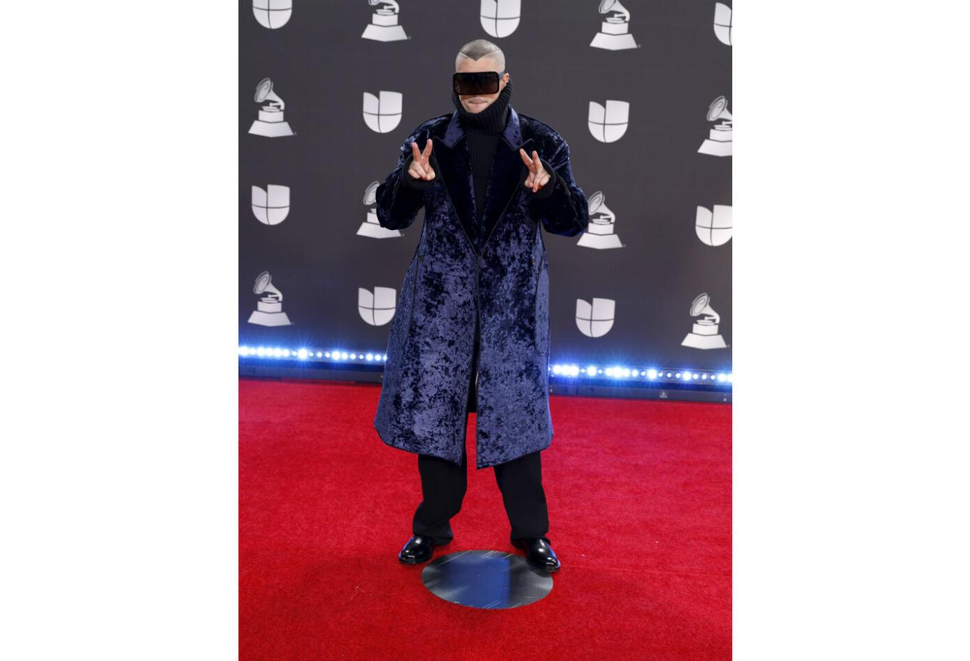 Bad Bunny en los Grammy Latinos