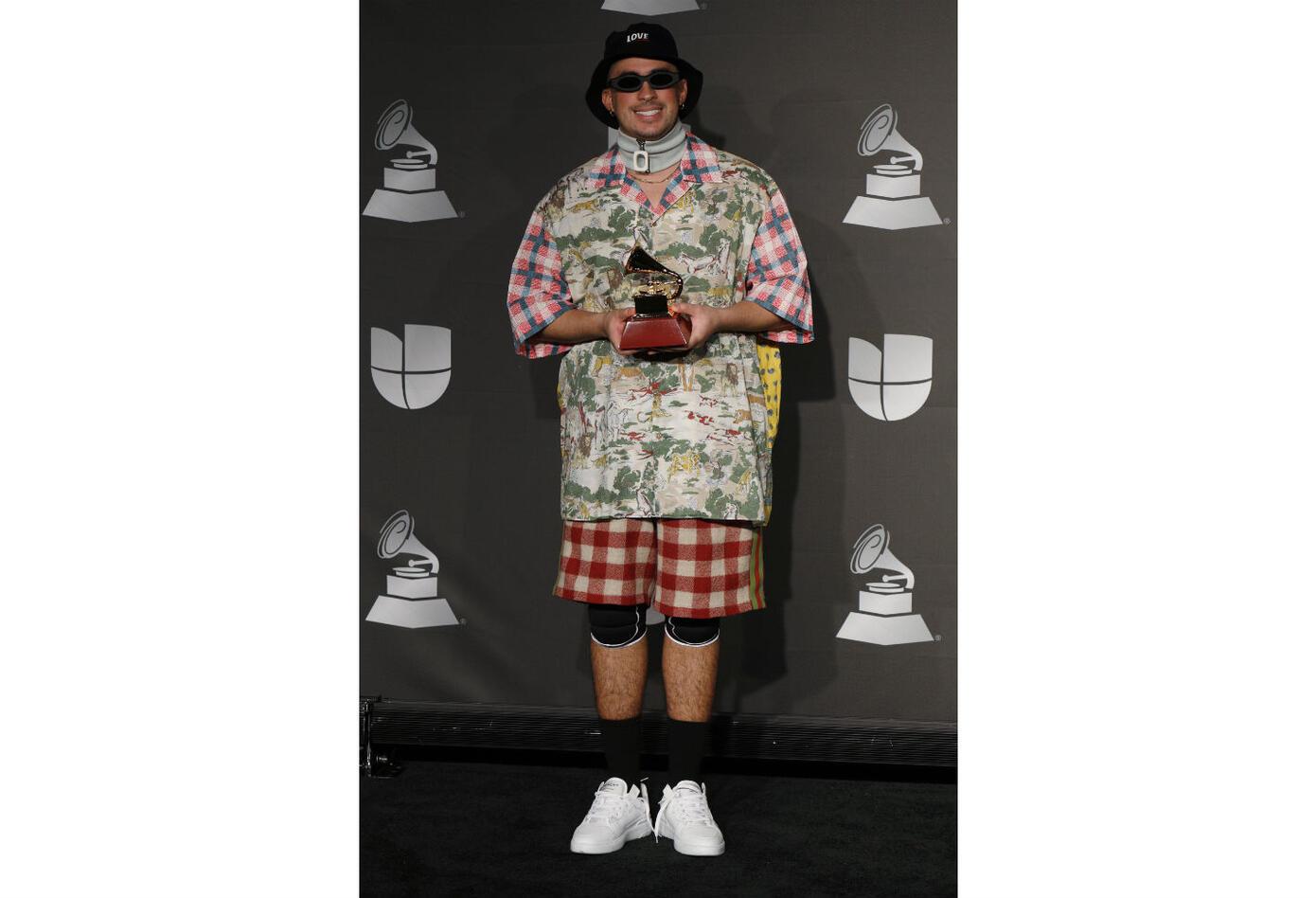 Bad Bunny en los Latin Grammy 2019