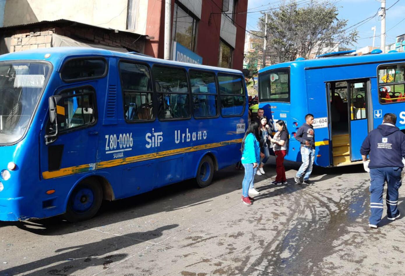 Accidente de bus del Sitp