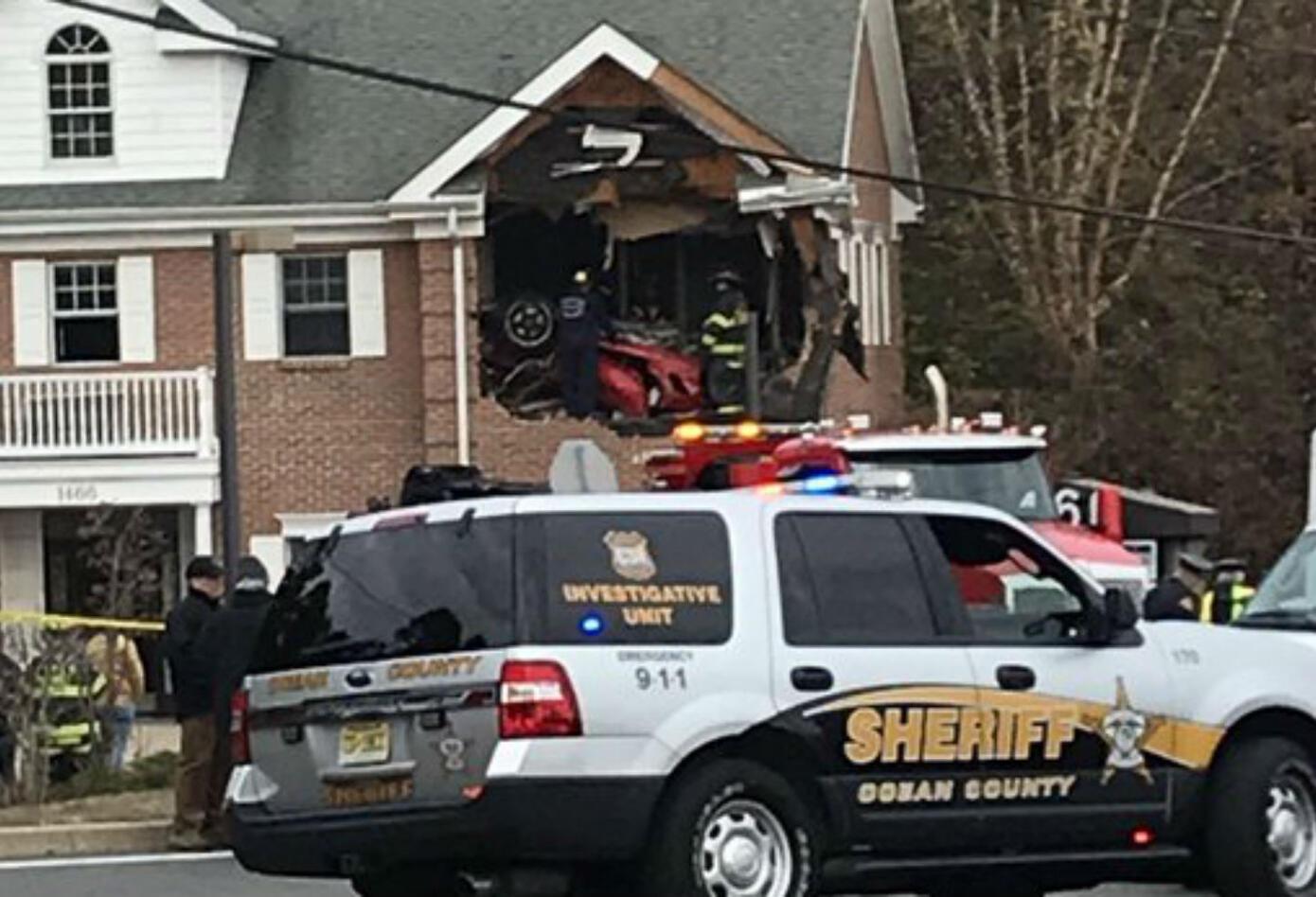Accidente de porsche en Nueva Jersey