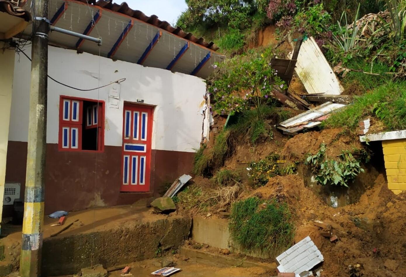 Casas afectadas en Jericó