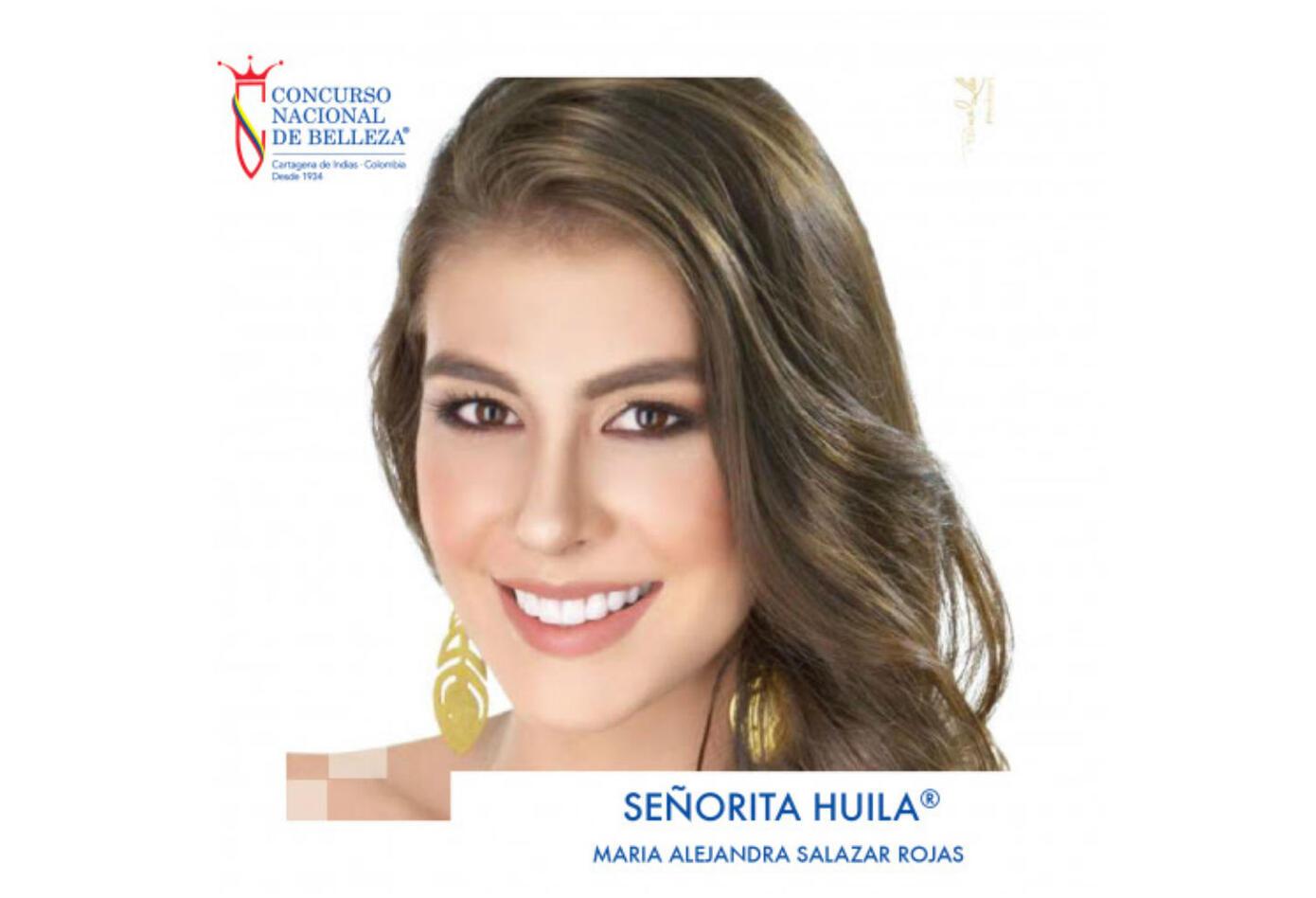 María Alejandra Salazar, señorita Huila 2019