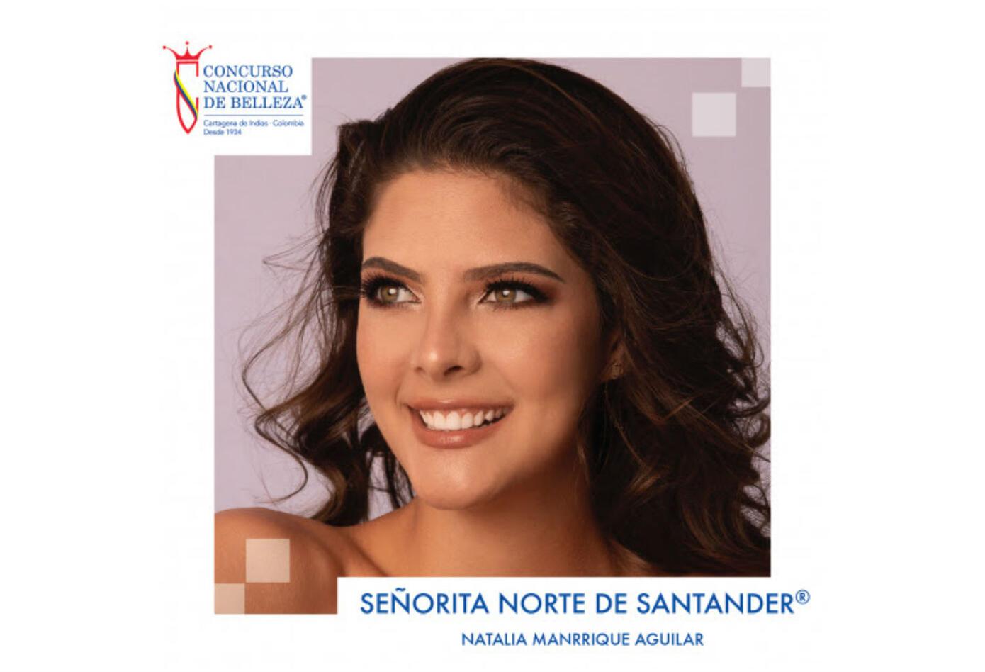 Natalia Manrique Aguilar, señorita Norte de Santander 2019