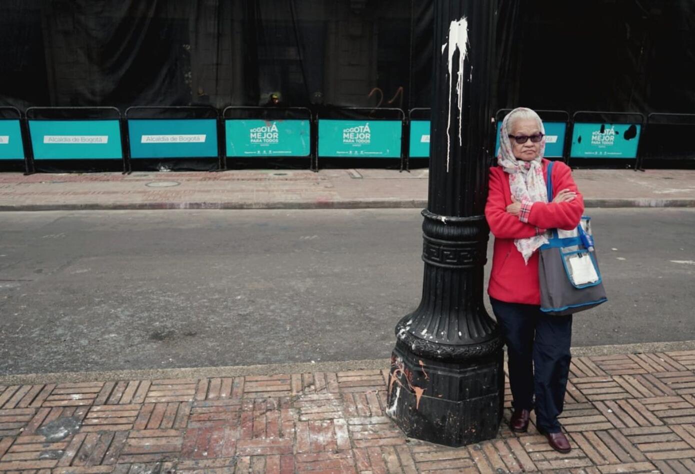 Hasta abuelitas han llegado a la Plaza de Bolívar.