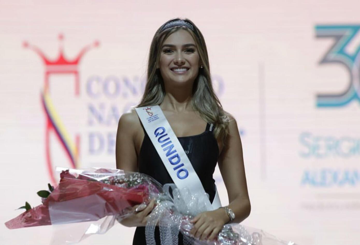 María Fernanda Aristizabal, señorita Quindío 2019, ganó cuerpo sano