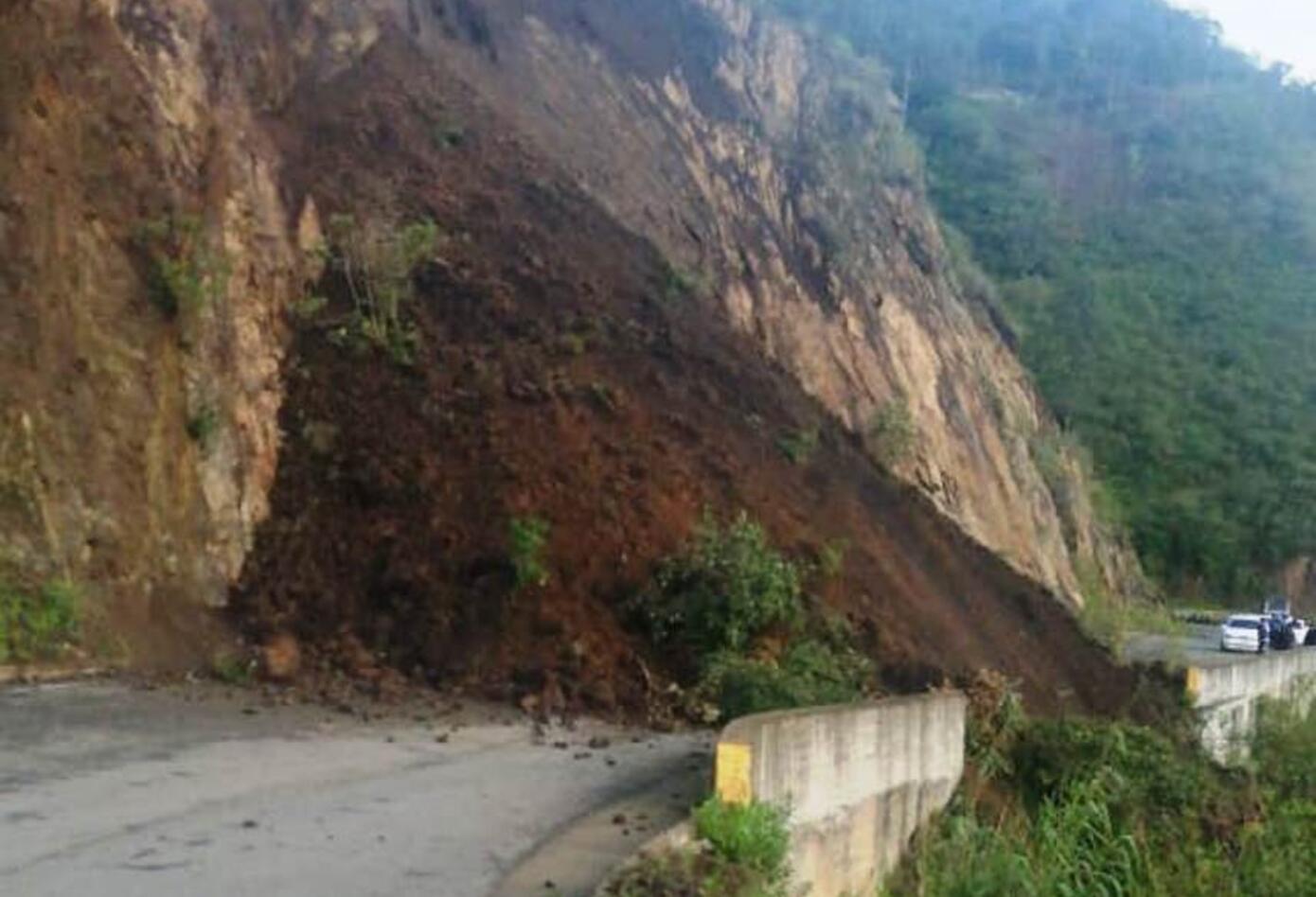 Vía Túquerres Samaniego afectada por las lluvias