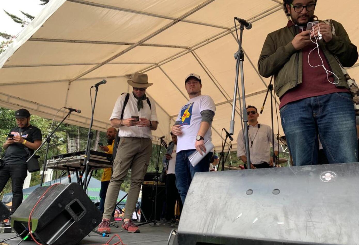 Canto por Colombia en Bogotá