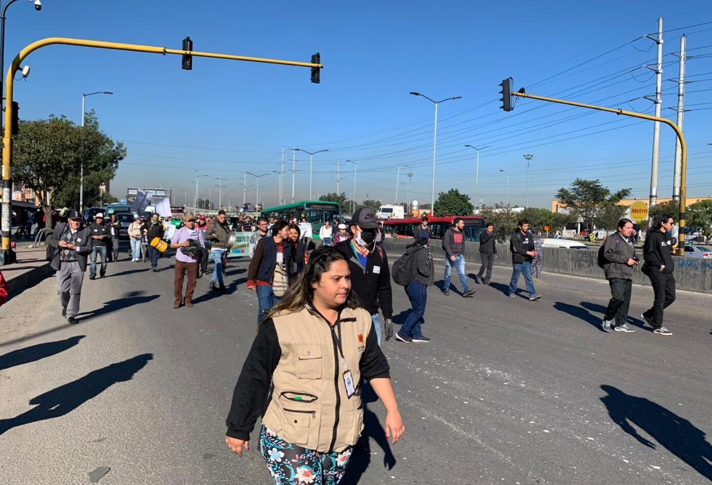 Hay bloqueos en Transmilenio por el paro nacional.