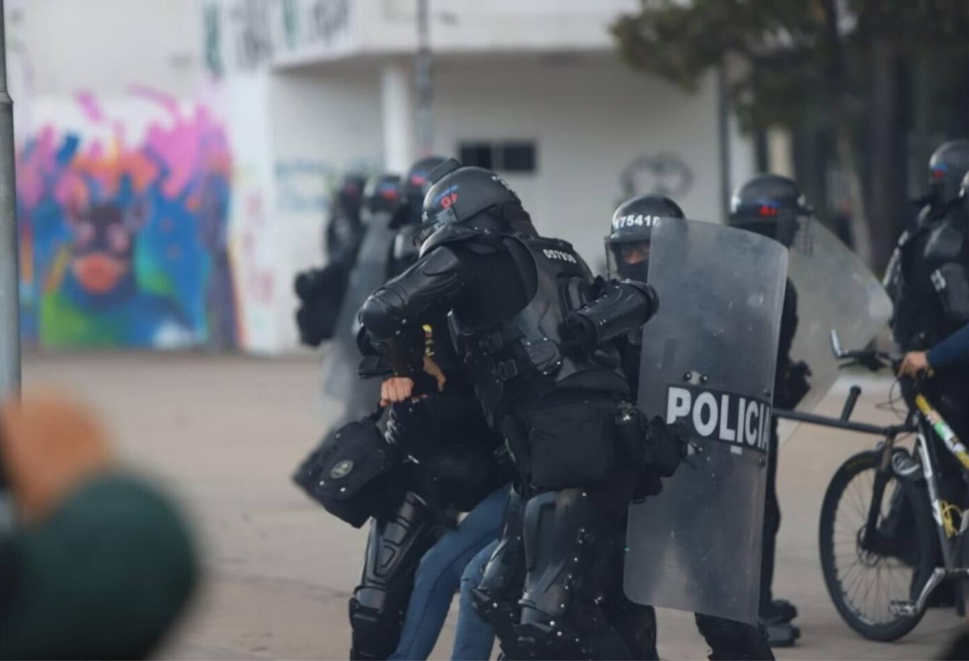 Disturbios Universidad Nacional 10 de diciembre de 2019