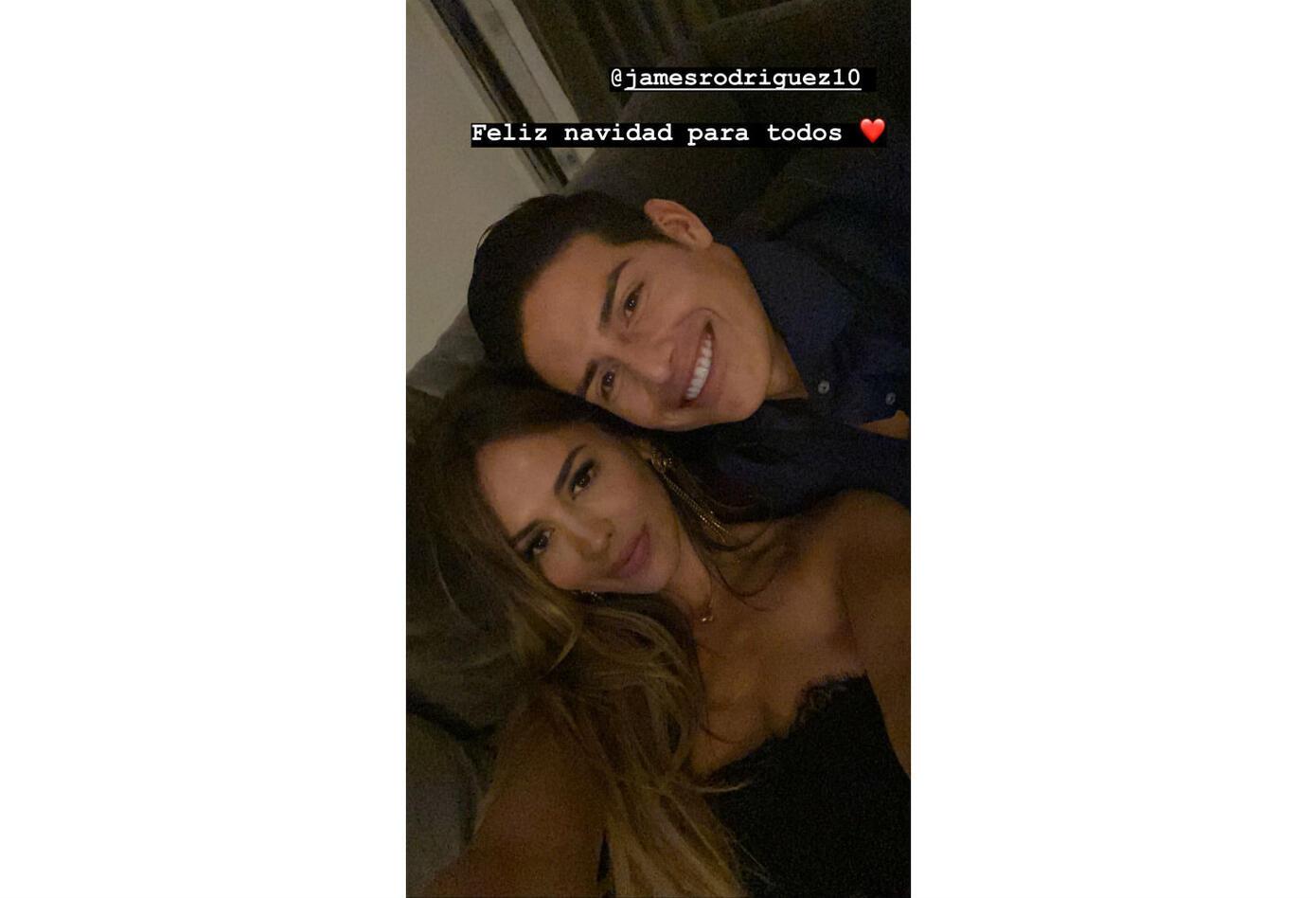 James Rodríguez y Shannon de Lima en Navidad 2019