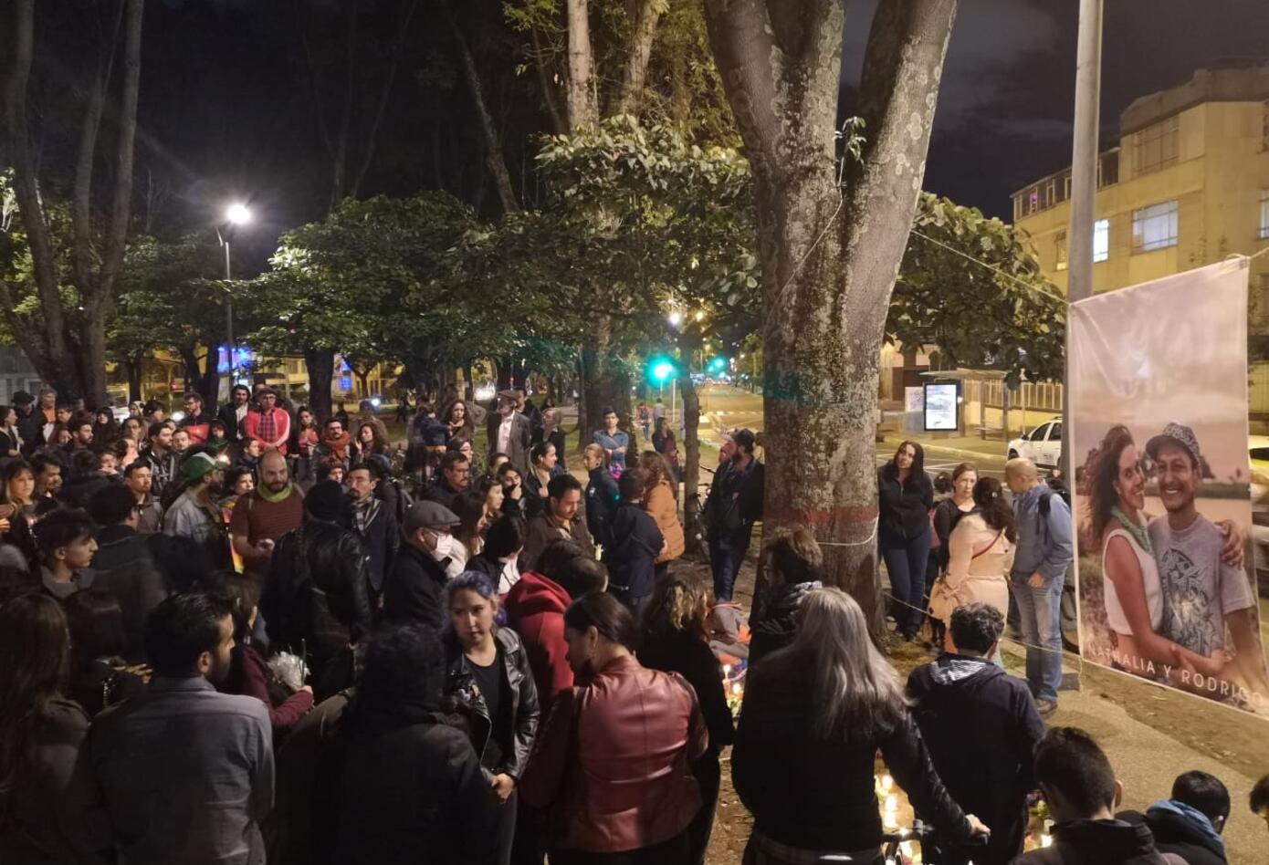 Así fue el homenaje a Nathalia Jiménez y Rodrigo Monsalve en Bogotá