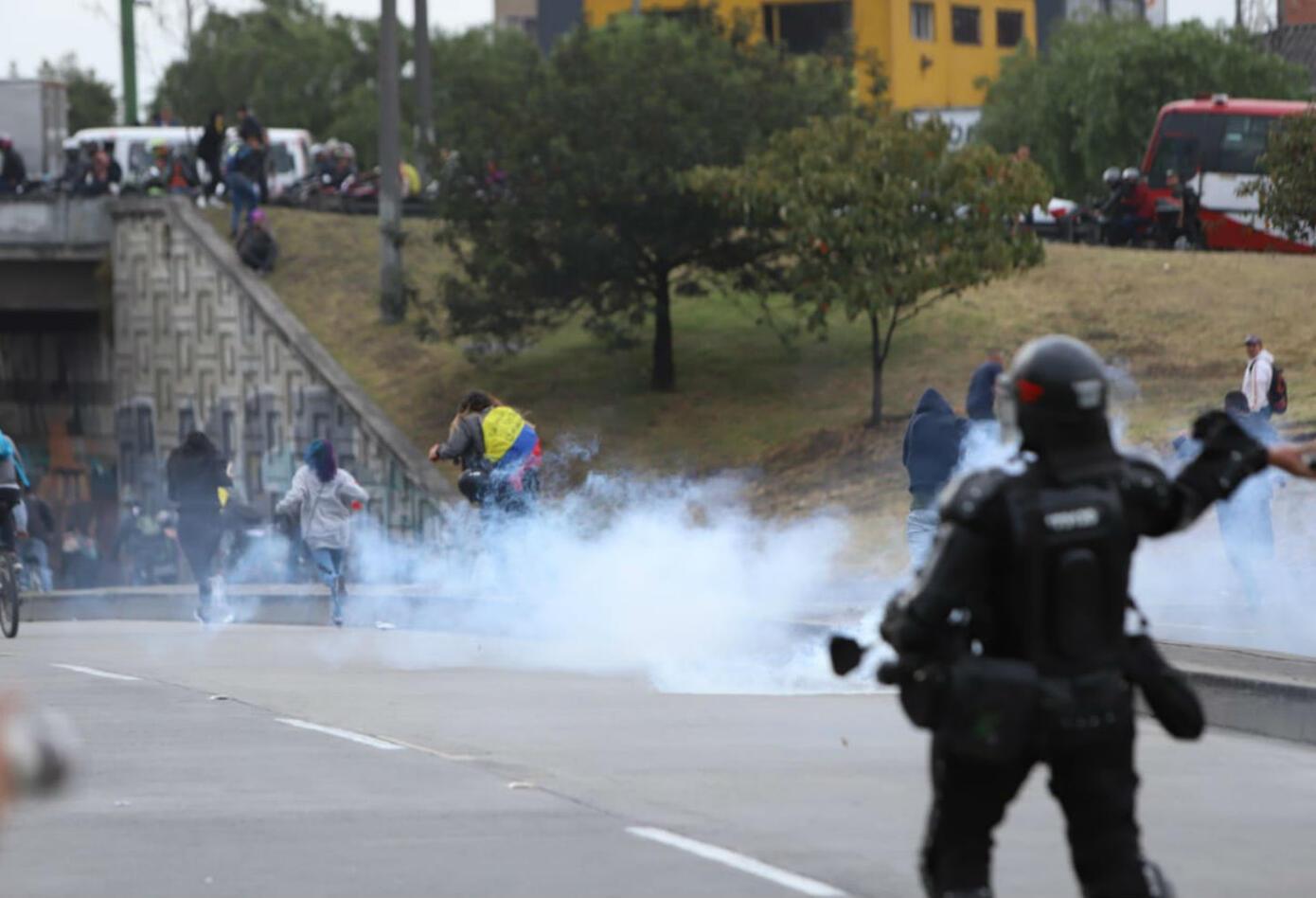 Esmad, disturbios en Banderas, Bogotá
