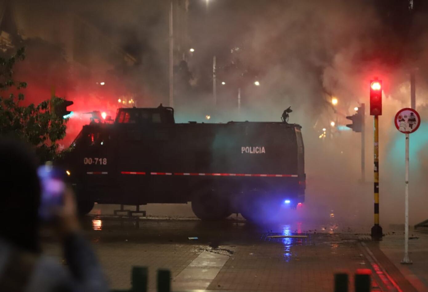 Enfrentamientos en la Plaza de Bolívar