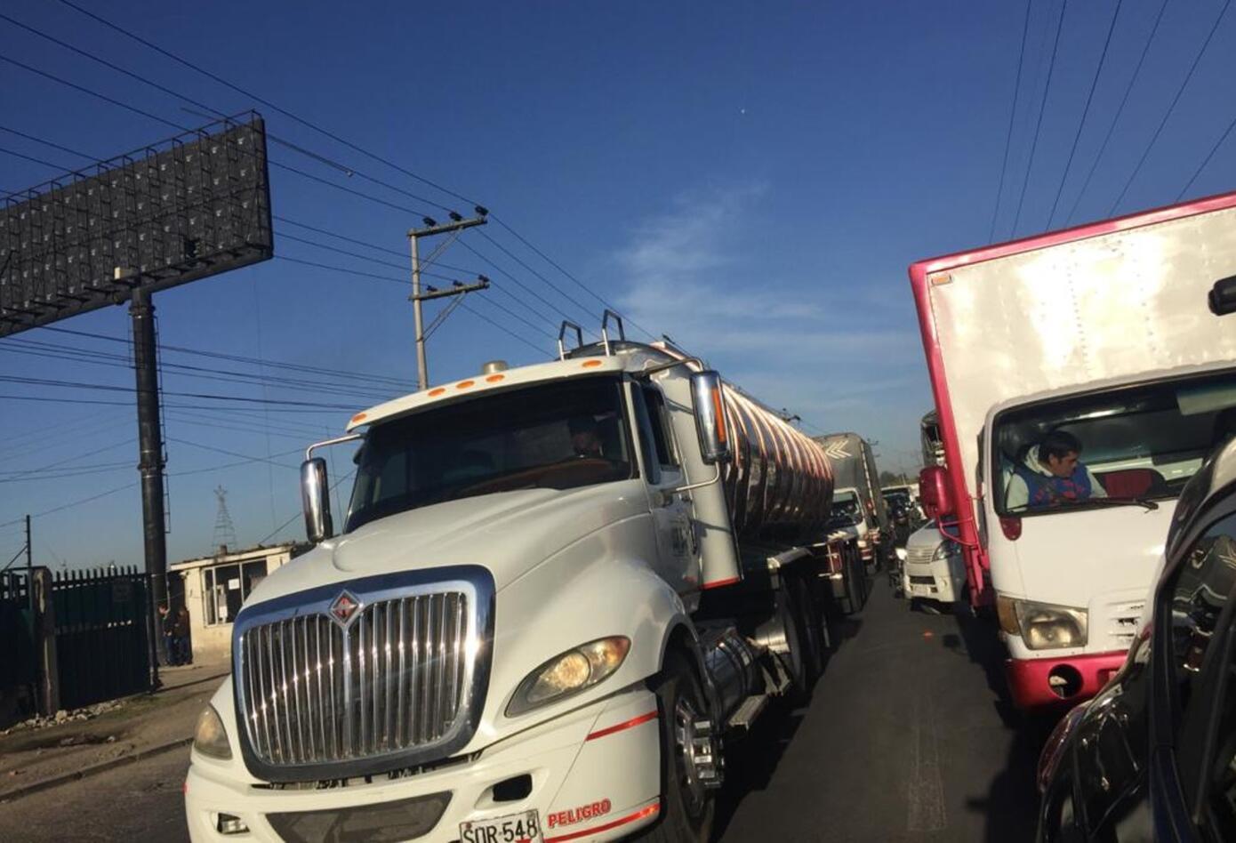 Protesta de camioneros en Bogotá