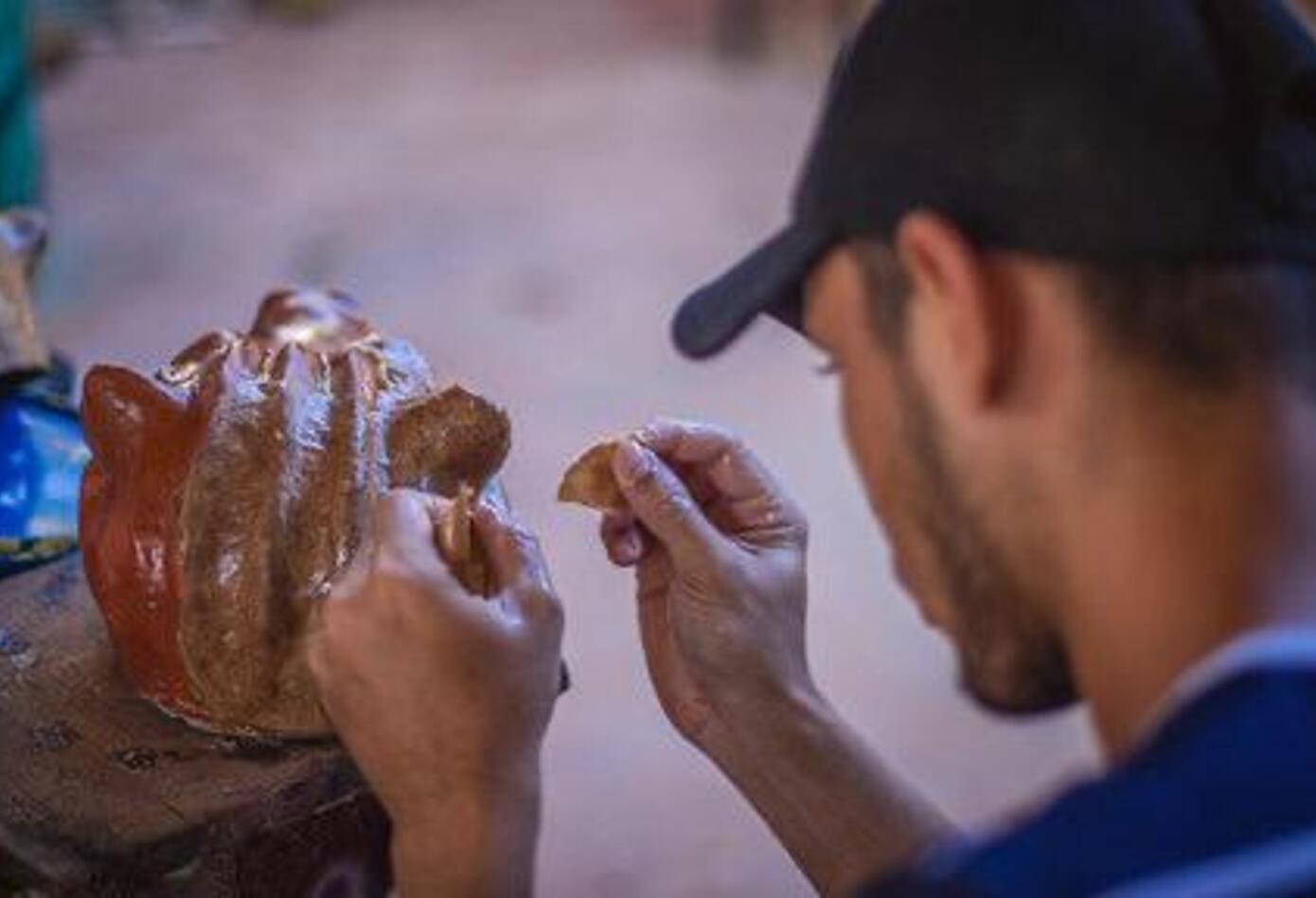 Más de veinte artesanos trabajaron en su creación.