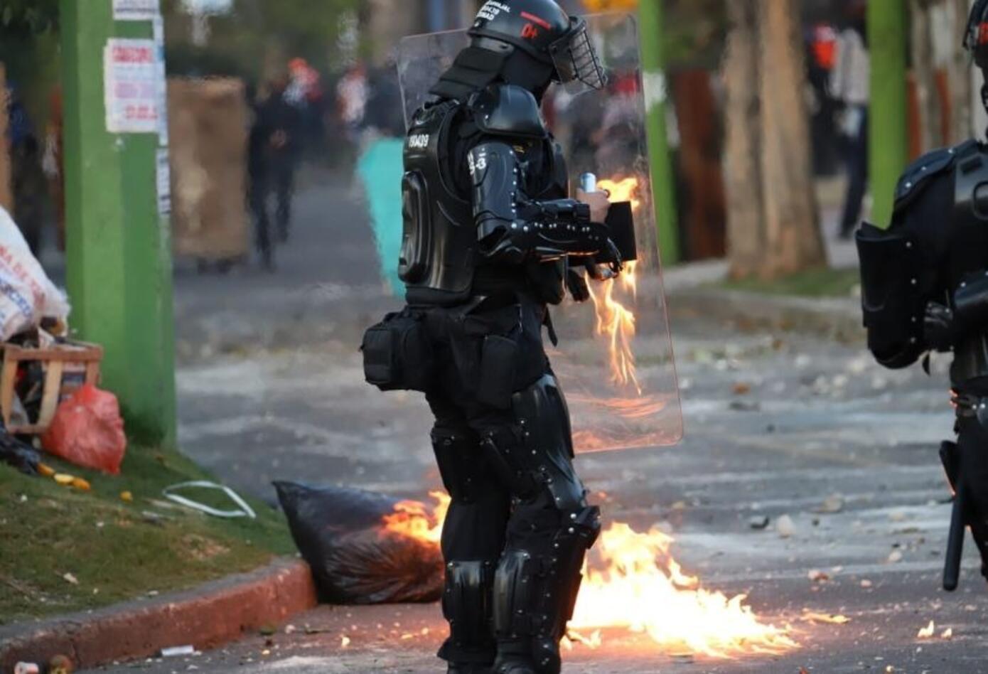 Disturbios Universidad Nacional 6 de febrero de 2020