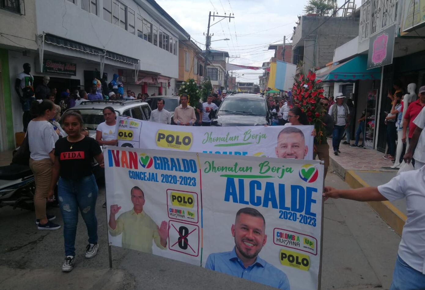 Marcha de protesta por asesinato de líderes políticos en el Valle