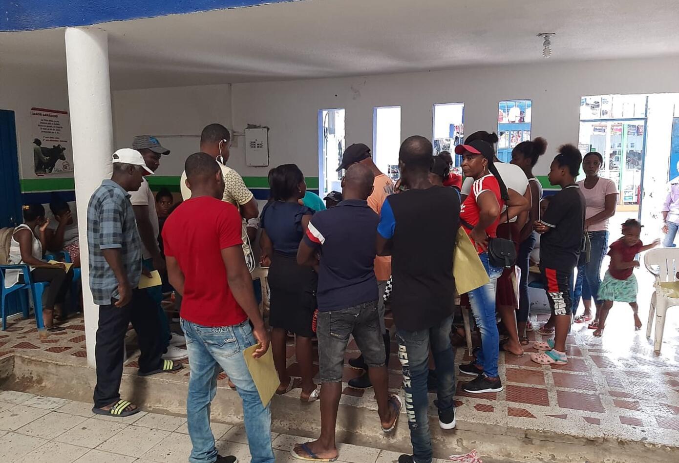 Son 2500 personas que salieron de si casas huyendo de la violencia