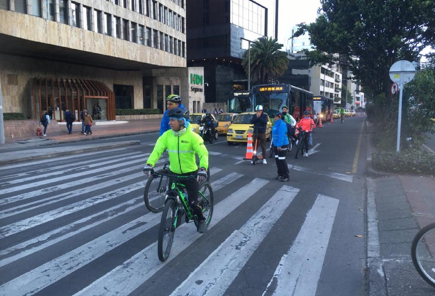 Día sin carro y sin moto en Bogotá