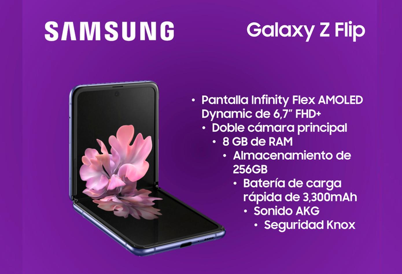 Samsung Galaxy Z Flip, el segundo teléfono plegable de la marca
