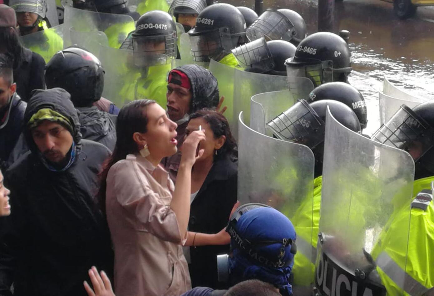 Protestas en la carrera 13