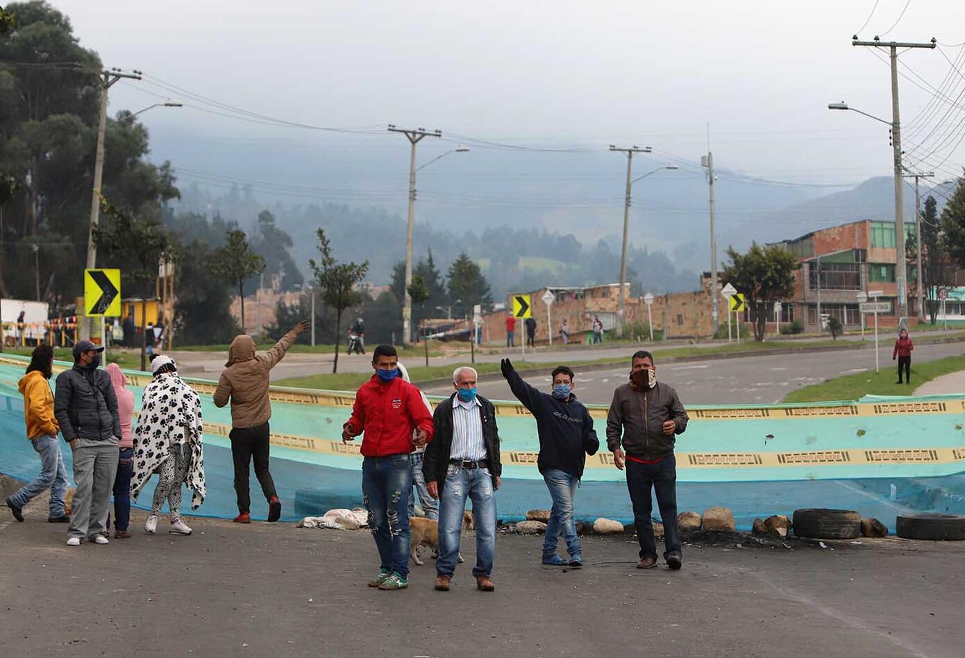 En Bogotá se registra el cuarto día de protestas de algunos habitantes de localidades como Ciudad Bolívar y Usme.