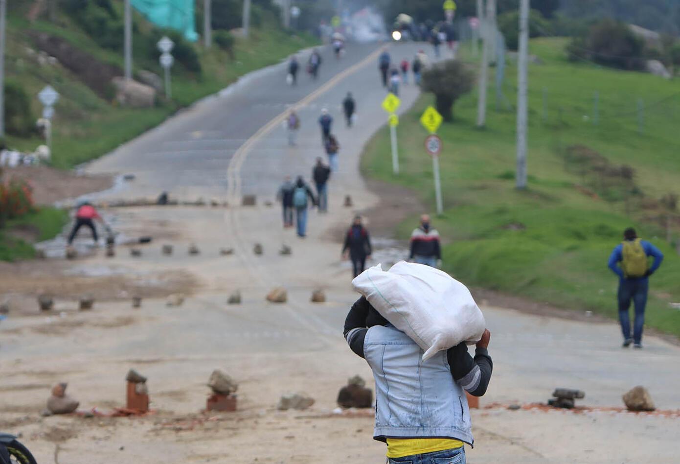 """""""La situación está muy dura"""", han asegurado los manifestantes."""