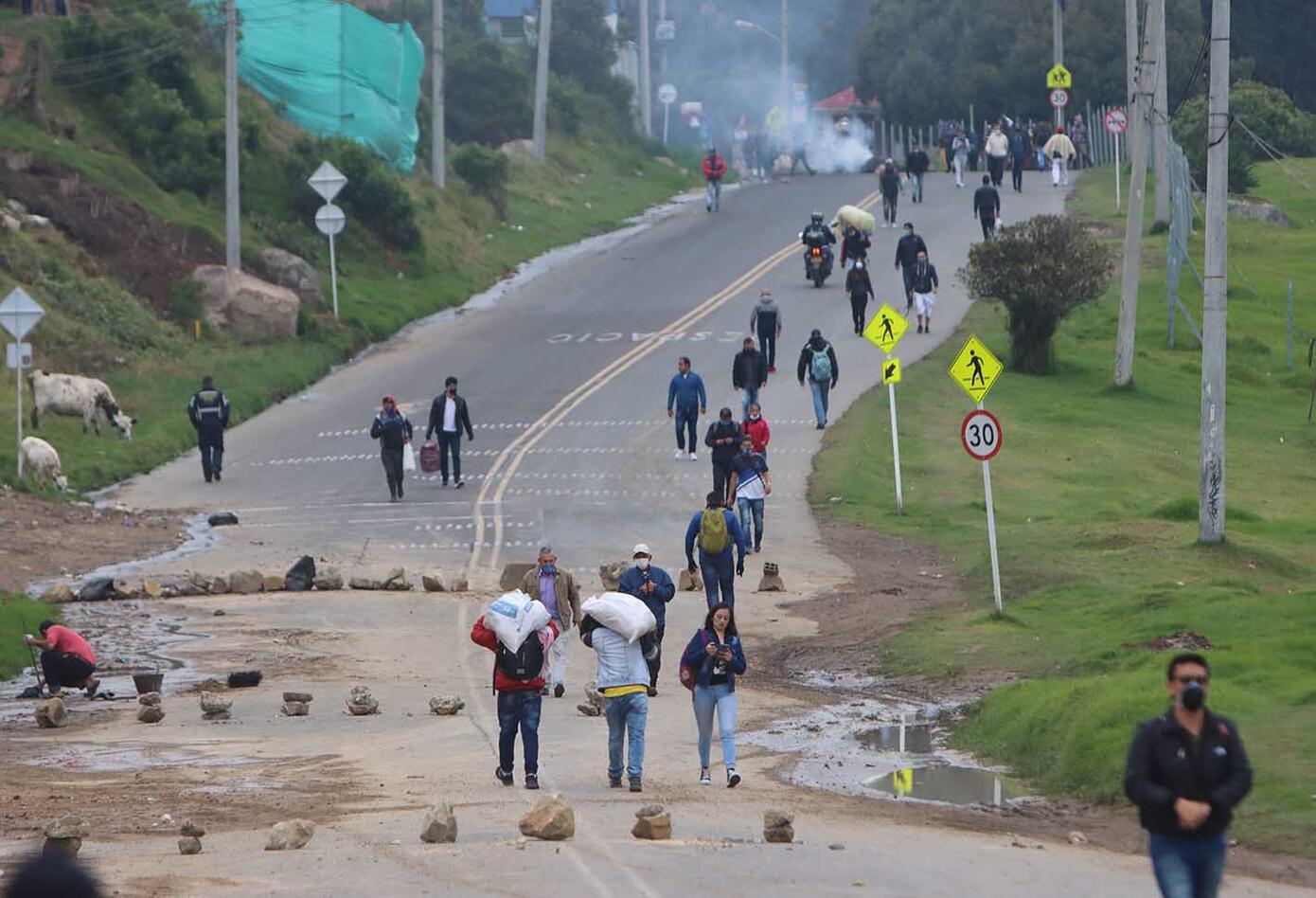 Con esta jornada, las protestas en el sur de Bogotá completan cuatro días.