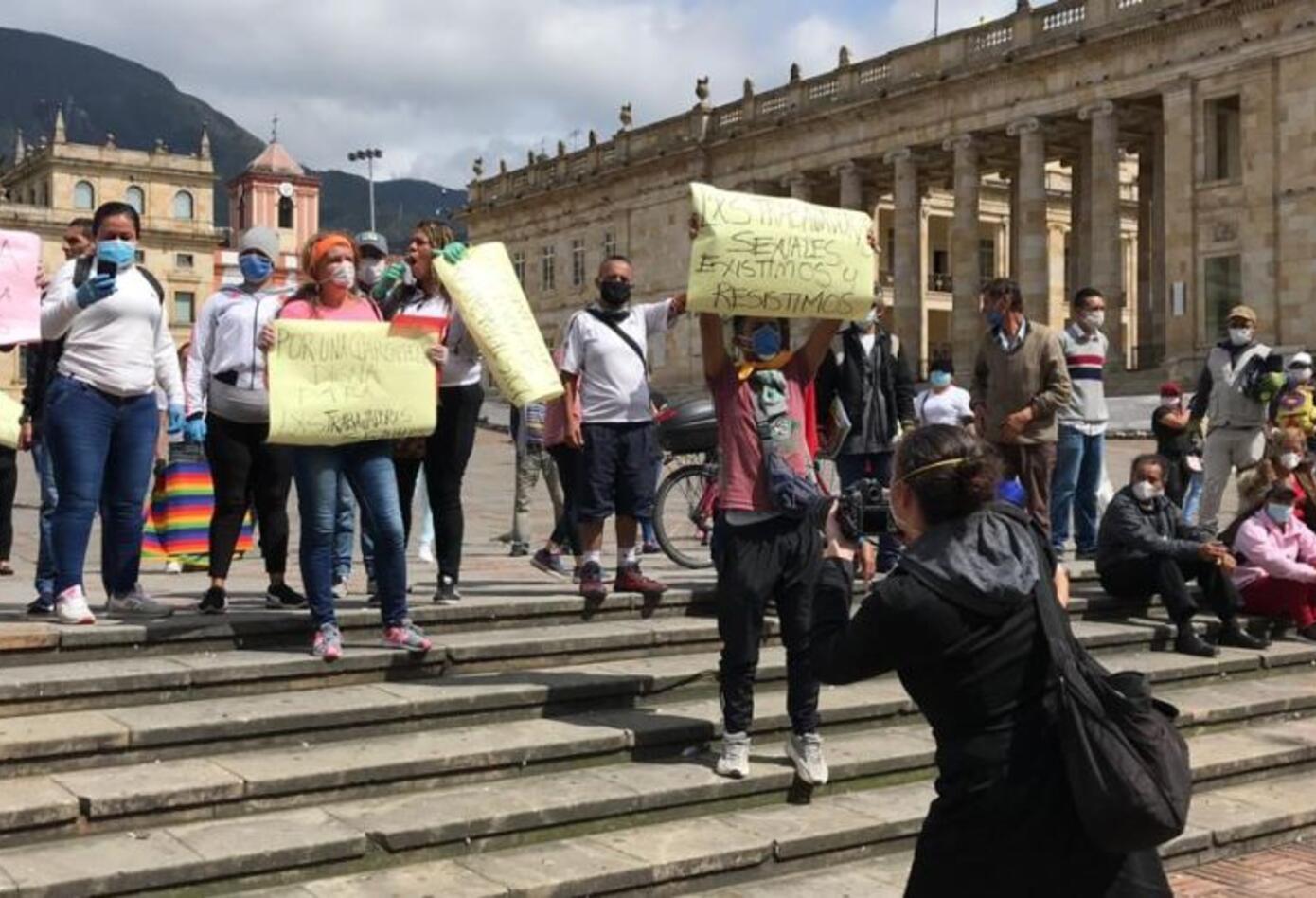 protesta plaza de Bolívar