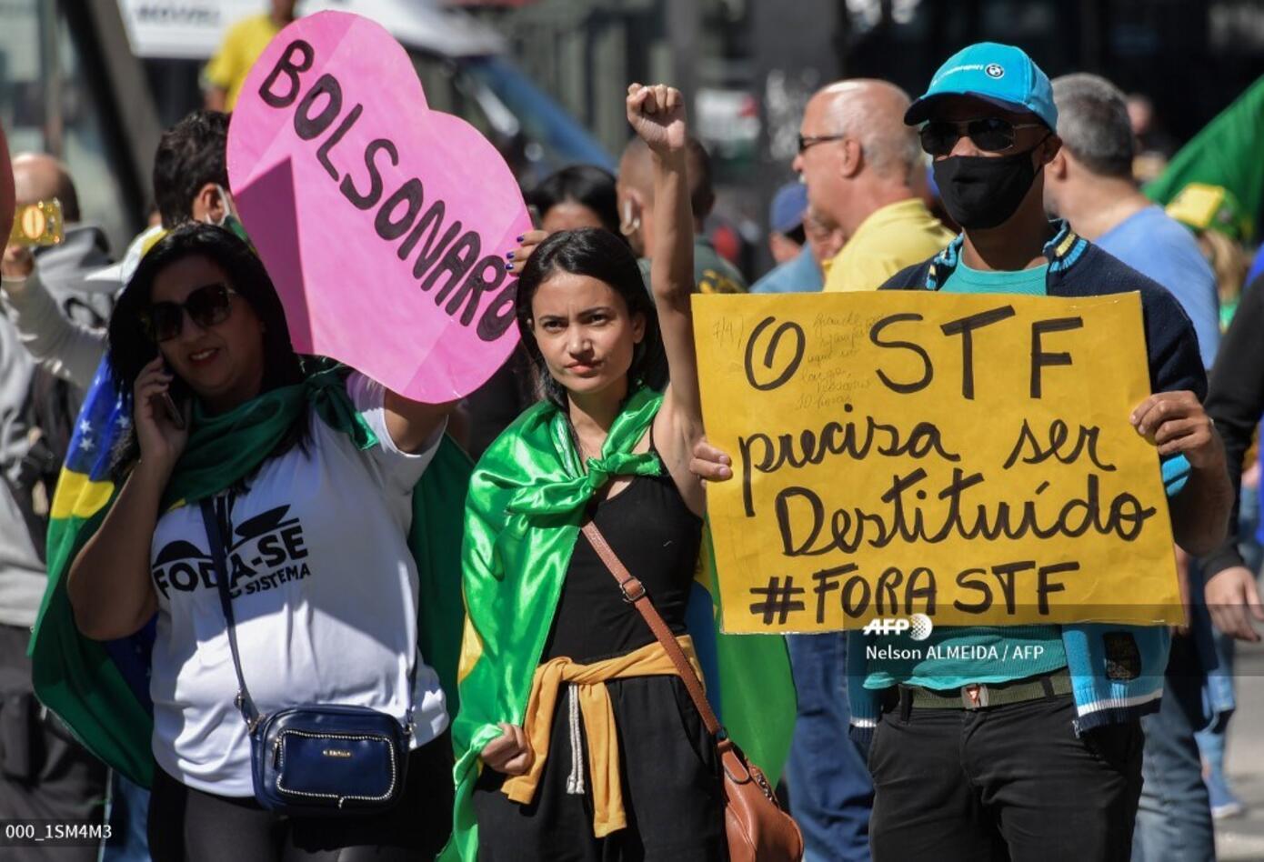 Protestas en Brasil entre seguidores de Bolsonaro y opositores
